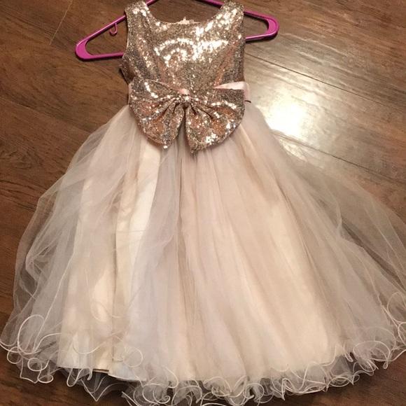 d1cda6e8da7b Dresses | Blush And Rose Gold Sequin Flower Girl Dress | Poshmark